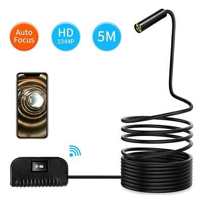 Multifunction WiFi Endoscope 5MP Auto Focus Sewer Pipe Snake Inspection Camera