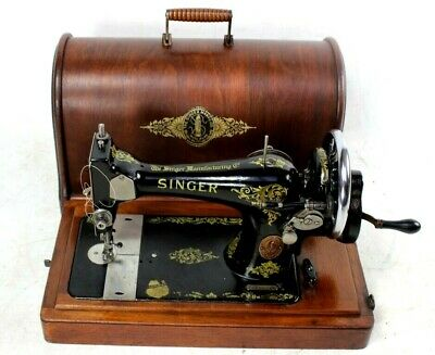 Vintage Singer 28K Hand Crank Sewing Machine c1919  [5779]