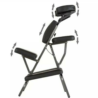 PORTABLE FOLDING MASSAGE Therapy TATTOO CHAIR BEAUTY STOOL ADJUSTABLE