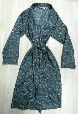 John Randall London Men's Paisley Vintage Smoking Jacket Dressing Gown Xl 1960'S