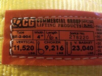 Commercial Group lifting Product's  nylon sling