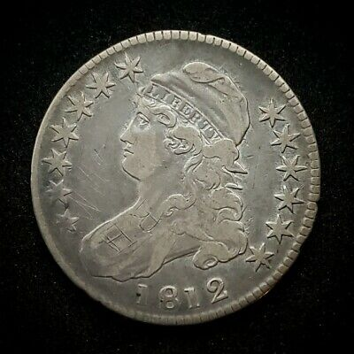 1812 Capped Bust Half Dollar | *Silver* Early Date  -Very Fine-   *138