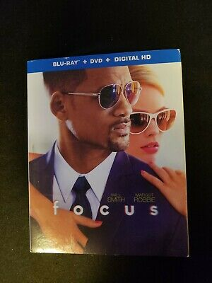 Focus, Blu-ray +Dvd +DIGITAL, With Slipcover,  Lot H2.