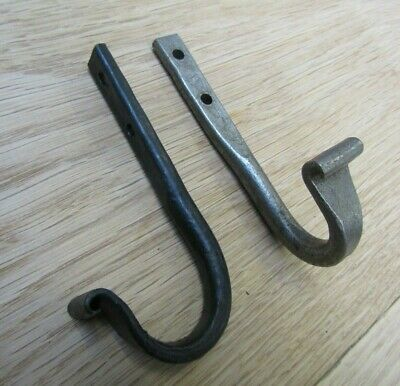 UTILITY SCROLL END hand forged blacksmith vintage rustic hanging hook hanger peg