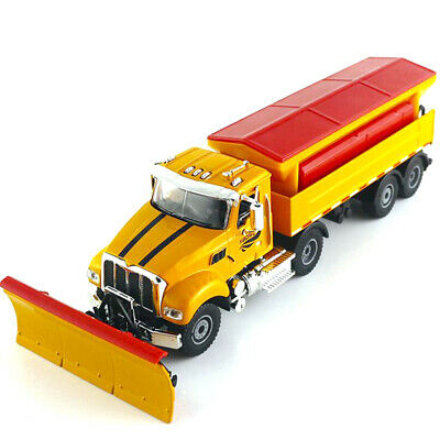 1:50 Scale Diecast Alloy Winter Service Vehicle Snowplow Truck Car Model Toy