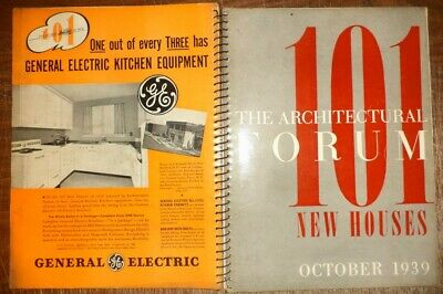 Vintage October 1939 Architectural Forum 101 New Houses Modern Designs History