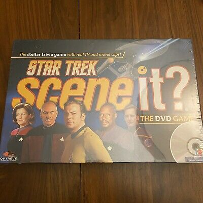 Star Trek SCENE IT? The DVD Trivia Game Mattel Trivia Board Game 2008 SEALED
