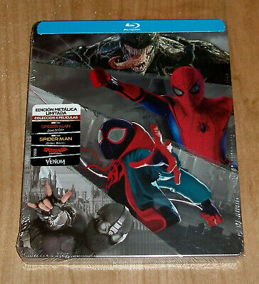 Spider-Man Away of Casa-Homecoming 4 Blu-Ray Steelbook Action (No Open) A-B