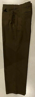 LEE Womens Ladies Relaxed Fit At The Waist 22W Medium Brown Pants Slacks