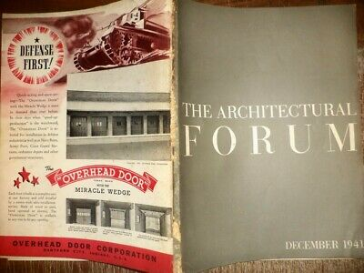 Vintage December 1941 Architectural Forum Home Buildings Modern Designs History