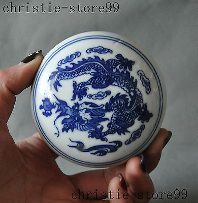 chinese china wucai Porcelain glaze Dragon man beauty woman statue box boxes
