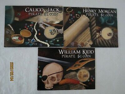 1-5 Price Each 2011 Coloured Pirate $1 One Dollar Perth Mint Unc. Coin Australia