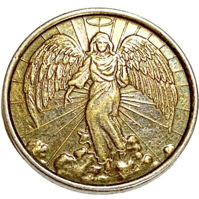 Pocket Guardian Angel For Protection Good Luck Coin Medal Token