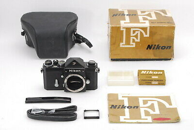 [Almost Mint in Box] Nikon F Eye Level Black SLR 35mm Film Camera JAPAN 940