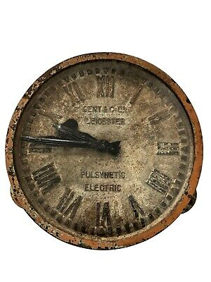 Large Cast Iron Gent Gents Of Leicester Industrial Railway Station Factory Clock