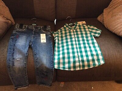 Boys Jeans And Shirt Age 3-4 Years Both New With Tags