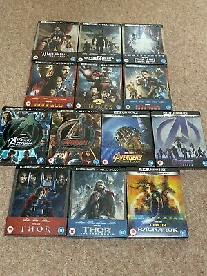 Marvel 4K Uhd Steelbook Collection Avengers Iron Man Captain America Thor Sealed