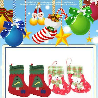 Appliques Christmas Stocking Christmas Tree Hanging Ornaments Decor s2zl