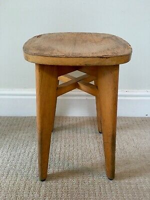 Mid century stool from France. Perriand, Prouvé, Le Corbusier era. Vintage retro