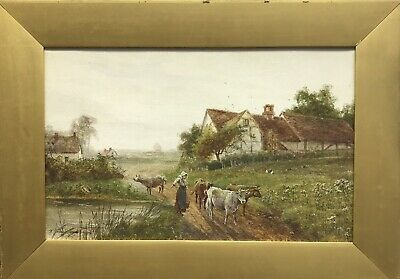 Antique Early 20th century watercolour painting signed H Hammond  landscape
