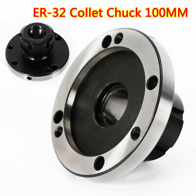 ER-32 Collet Chuck 100mm Diameter Compact Lathe Tight Tolerance for Milling Tool