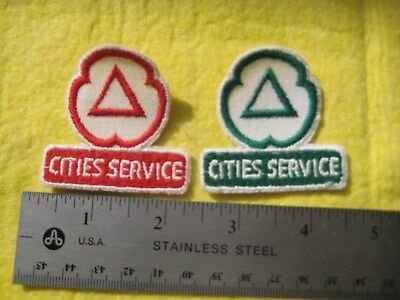 Vintage 2 Cities Service Gasoline Racing Uniform  Jacket  Patch