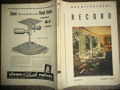 Vintage March 1948 Architectural Record School Buildings Modern Designs History