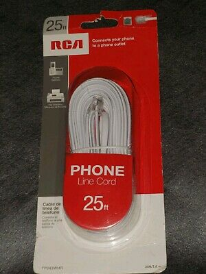 RCA TP243SLR Phone Line Cord 25 Ft Gray FREE SHIPPING