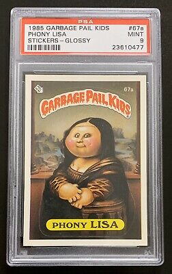 1985 Garbage Pail Kids OS2 Phony Lisa 67a PSA 9 MINT RARE GLOSSY CARD! TWT