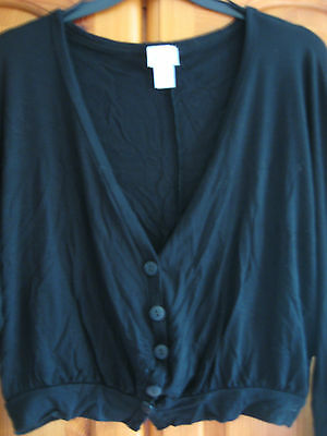 NEW GIRL'S KYLIE M&Co BLACK CARDIGAN HEIGHT 146/152 cms AGE 11 - 12 YEARS