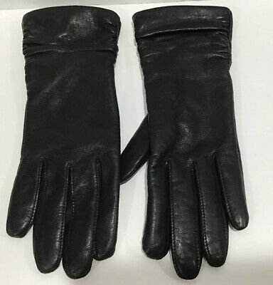 Wilson's Leather Woman's Black Leather Gloves Size Small EC