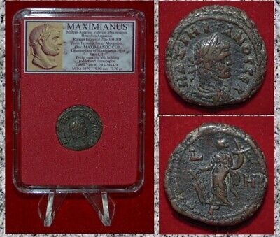 Ancient Coin MAXIMIANUS Bust Of Emperor Tyche on Reverse Alexandria