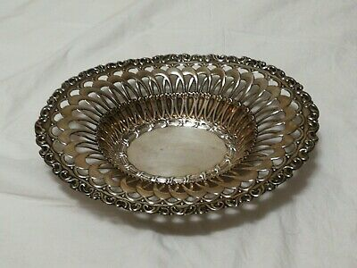 Whiting Co, New York. Sterling Oval Bowl/Basket Art Nouveau openwork motif