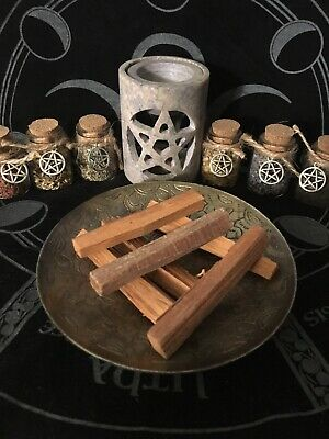 Organic natural sandalwood, incense spells, Spell Kits, Charms, Wicca, Pagan