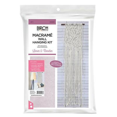 Macrame Wall Hanging Kit - Leaves & Branches / Diy Decorative Hand Knotting Kit