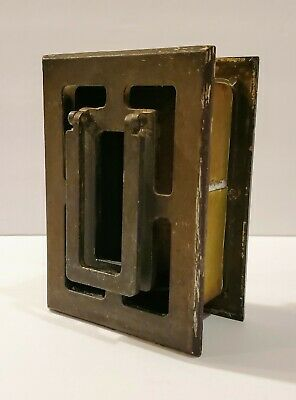 Vtg Weiser 1839 Speakeasy Door Window Knocker Peek Open See Through Brass Gothic