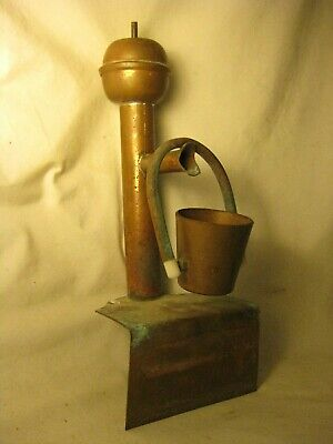 vintage copper decor water spout for fountain pond small endless bucket