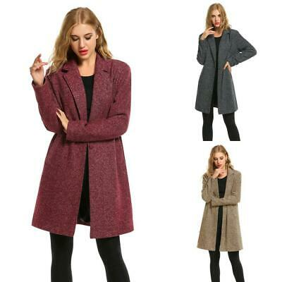 New Women Winter Casual Long Sleeve One Button Long Trench Coat BRCE 01