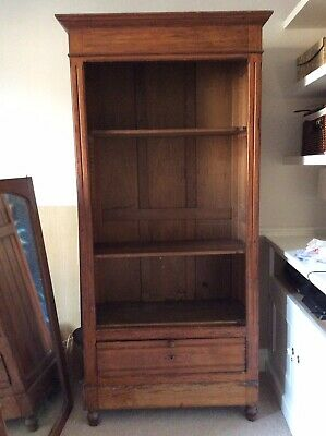 Antique French Pitch Pine Wardrobe