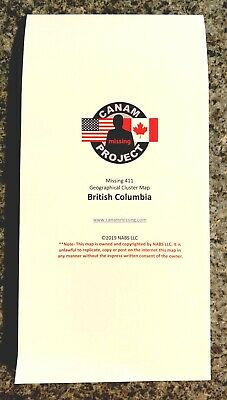Missing 411 PEOPLE DISAPPEARANCES CLUSTER MAP Paulides British Columbia CANADA