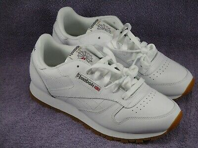 Reebok Junior Classic Leather White Size 3.5 to 4.5 50150 NWD