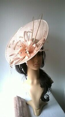 Nude Blush large statement hatinator..Wedding,races..New