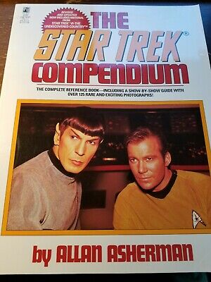 1993 The Star Trek Compendium Softcover Reference Book Allan Asherman USED VG/NM