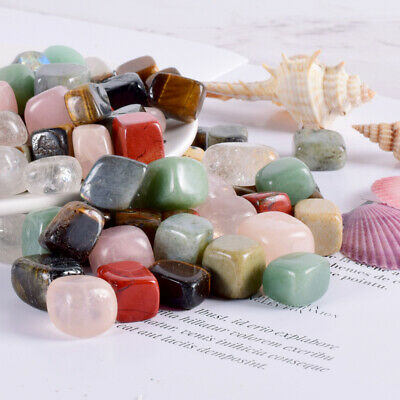 Color Chakra Healing Stones Polishing Rock Yoga Reiki Natural Crystal Quartz