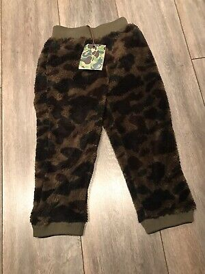 Brand New A Bathing Ape Kids Camo Fleece Kids Bottoms Size 120