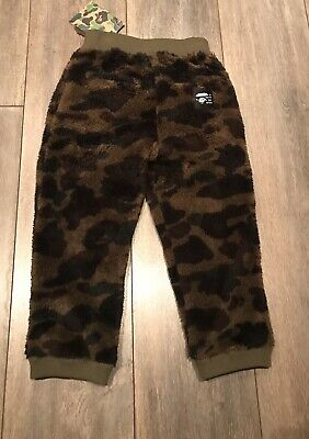 Brand New A Bathing Ape Kids Camo Fleece Kids Bottoms Size 110