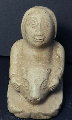 Very old amyzing bactrian rare stone  statue with head off  bull
