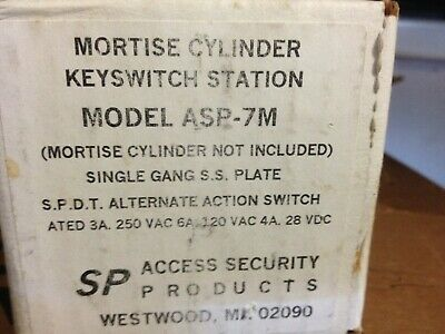 Access Security Products Mortise Cylinder Keyswitch Station #ASP-7M