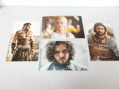 "Game Of Thrones Trono Spade ""Daenerys's lovers"" 4 post cards (Jon,Drogon,Daario)"