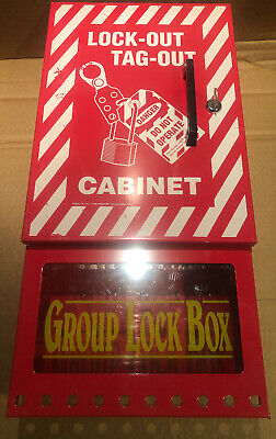 EMED Co lock out tag out cabinet group lock box with key